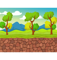 forest with stone view for you design vector image