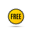 free symbol special offer sign vector image vector image