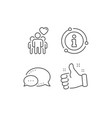 friendship line icon friends group sign vector image vector image