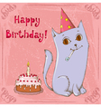 Happy birthday cat vector image