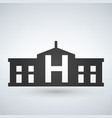 hospital building icon isolated human medical view vector image