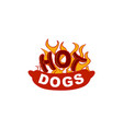 hot dog logo design concept template vector image