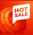 hot summer sale special offer banner for business vector image