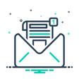 inbox message vector image vector image