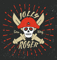 jolly roger pirate vector image