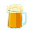 Lager beer glass with foam Icon mug cold alcohol vector image vector image