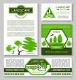 landscape design business banner template set vector image vector image