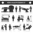 Medical black pictograms set vector image