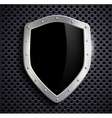 metal shield with a black screen vector image vector image