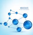 molecule shape concept design vector image vector image