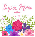 mothers day greeting card template vector image vector image