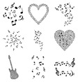 musical design elements vector image vector image
