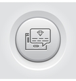 One Time Offer Icon Grey Button Design vector image vector image