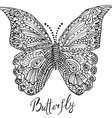 Ornamental hand drawn sketch of Butterfly in vector image