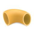 pipette rigate pasta mockup realistic style vector image