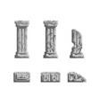 pixel art 8 bit gray ancient vector image