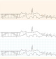 porto hand drawn skyline vector image vector image