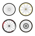 Road and Sport Bike Wheels and Tires vector image