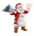 santa cook christmas dinner concept vector image