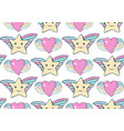 seamless pattern cartoon star and heart children vector image vector image