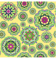 seamless pattern made from abstract circle mandala vector image vector image