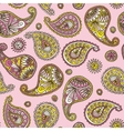 Seamless Pattern with Paisley on a Pink Background vector image