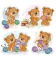 set clip art teddy vector image vector image