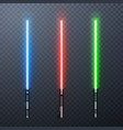 set three realistic light swords isolated on vector image