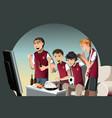 soccer fans vector image