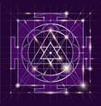 sree ganapati yantra sacred geometr vector image vector image