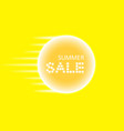 summer sale and speed lines and glowing neon sign vector image