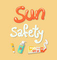 sun safety poster elements vector image