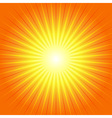 Sunburst Yellow Orange Ray Background vector image