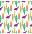 tribal flat feather seamless pattern background vector image