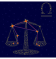 Zodiac sign Libra over starry sky vector image vector image