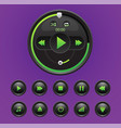 video movie media player with icons vector image