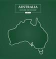 australia outline border on green background vector image