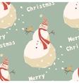 Snowmen background pattern vector image