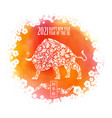 2021 chinese new year with vector image vector image