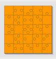 25 orange puzzle pieces - jigsaw vector image vector image