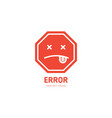 404 label error page not found design template for vector image vector image