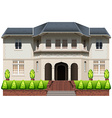 A big house with plants vector image vector image