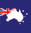 australia flag and map vector image vector image