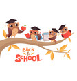 back to school cute cartoon baowls and teacher vector image vector image