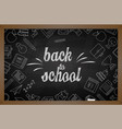 back to school eps10 image vector image
