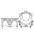 Baroque Imperial style furniture vector image vector image