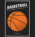 basketball nba tournament sport poster design vector image vector image