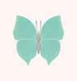 beautiful vintage blue butterfly isolated on vector image