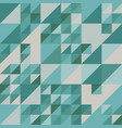 blue and green texture of triangles vector image vector image