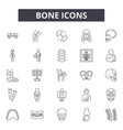 bone line icons for web and mobile design vector image vector image
